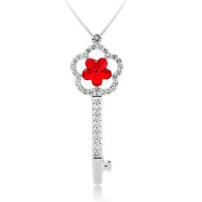 Swarovski Key Necklace Red