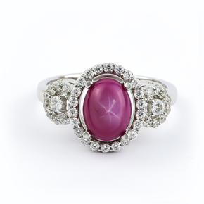 Handmade Star Ruby Ring