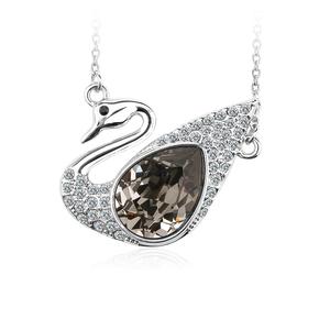 Swan Swarovski Crystal Necklace