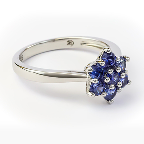 Flower Tanzanite Sterling Silver Ring
