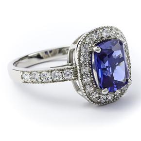 Beautiful Tanzanite Sterling Silver Ring
