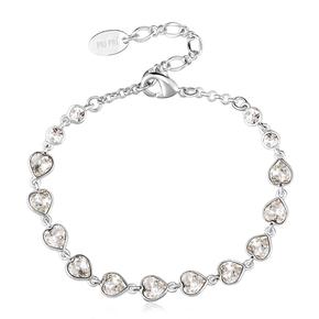 Swarovski White Heart Bracelet
