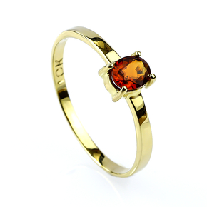 Genuine Oval Cut Sapphire 10K Yellow Gold Ring
