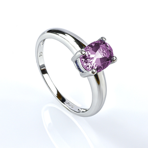 Alexandrite Solitaire Silver Ring