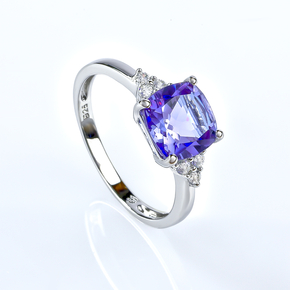 Alexandrite Sterling Silver Ring Blue To Purple Color Change