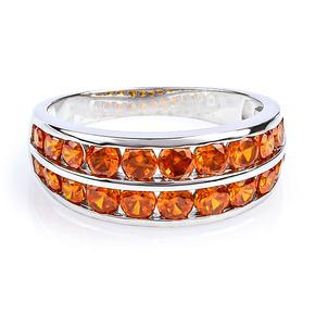 Sterling Silver Journey Fire Opal Ring