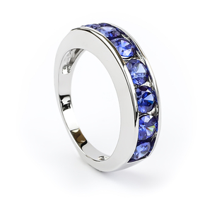 Sterling Silver Journey Tanzanite Ring