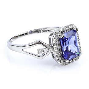 Tanzanite Sterling Silver Ring