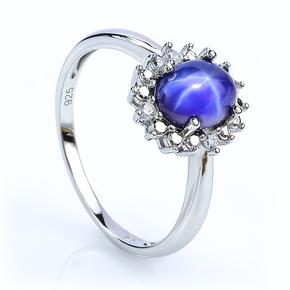 Fine Star Sapphire Silver Ring