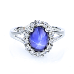 Star Sapphire Silver Ring