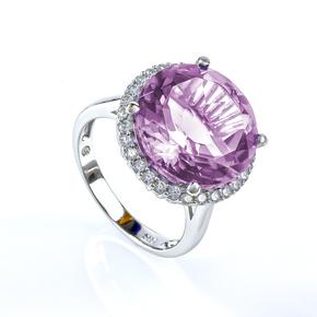 Alexandrite Sterling Silver Huge Ring