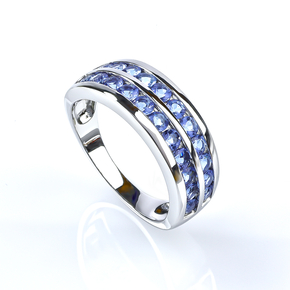 Sterling Silver Journey Alexandrite Ring