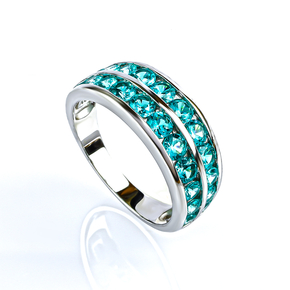 Sterling Silver Journey Paraiba Ring