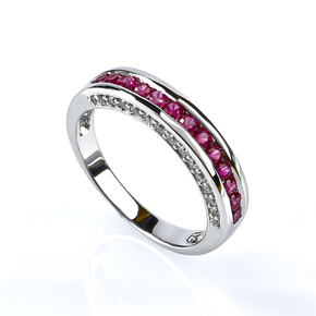 Sterling Silver Stackable Ruby Ring