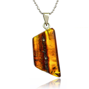 Genuine Amber Pendant From Mexico 31 mm x 16 mm