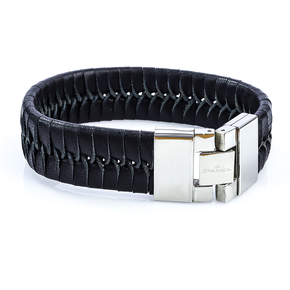 Quality Stainless Steel Leather Bracelet