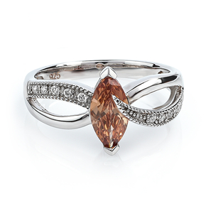Color Change Zultanite Marquise Cut Sterling Silver Ring