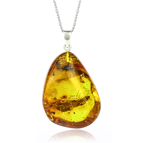 Amber Pendant Made of Precious Healing Mexican Amber