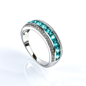 Paraiba Sterling Silver Stackable Ring