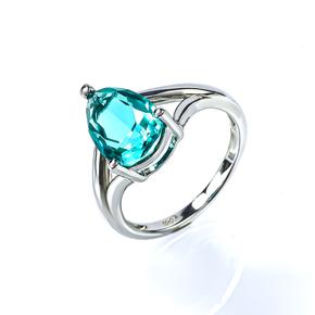 Paraiba Ring Solitaire