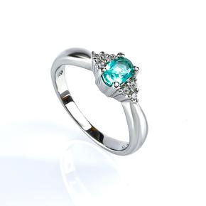 Paraiba Sterling Silver Ring
