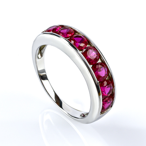 Sterling Silver Journey Ruby Ring