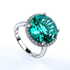 Paraiba Sterling Silver Huge Ring