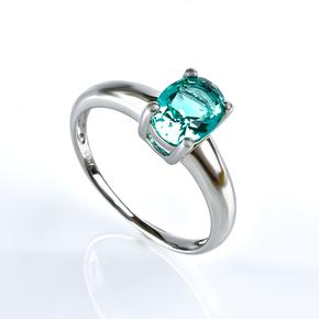 Paraiba Silver Ring