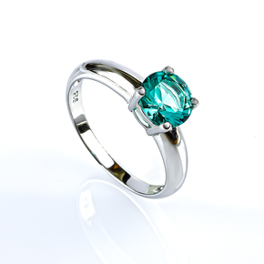 Sterling Silver Solitaire Paraiba Ring