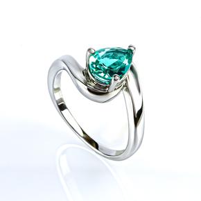Engagement Solitaire Paraiba Ring