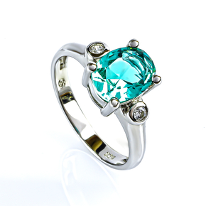 Stunning Green Paraiba Ring