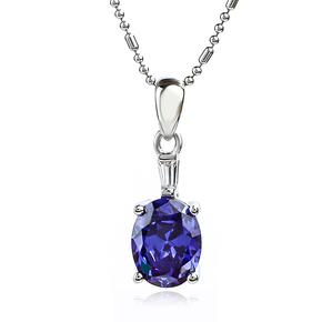 Silver Blue Tanzanite Pendant