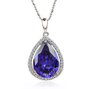 Blue Tanzanite Silver Pendant