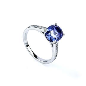 Tanzanite Solitaire Silver Ring
