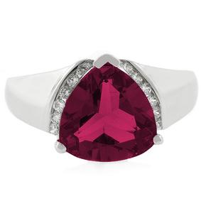 Ruby Ring Big Trillion Cut Stone