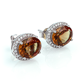 Oval Cut Zultanite Silver Earrings