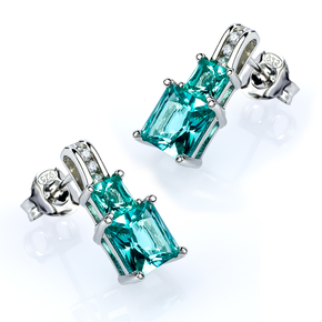 Sterling Silver Paraiba Earrings