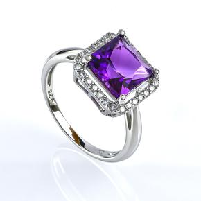 Amethyst Stone Silver Ring