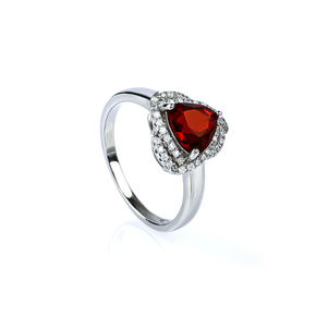 Trillion Cut Red Ruby Ring