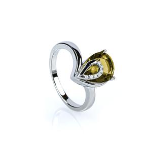 Zultanite Ring Pear Cut Stone Ring