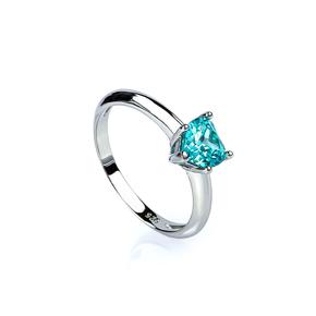 Sterling Silver Paraiba Heart Shape Cut Tourmaline Ring