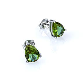 Zultanite Pear Cut Stud Silver Earrings