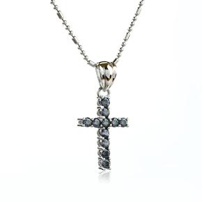 Mystic Topaz Cross Silver Pendant
