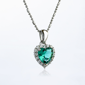 Heart Sterling Silver Pendant With Paraiba
