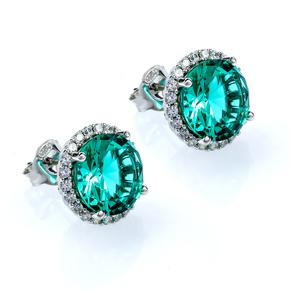 Paraiba Sterling Silver Huge Earrings