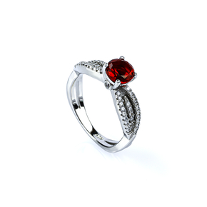 Sterling Silver Red Ruby Ring