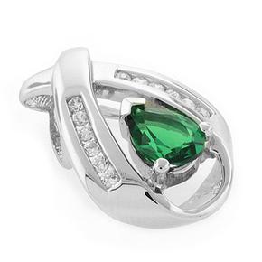 Silver Emerald Pendant