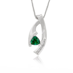 Silver Emerald Pendants