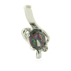 Colorful Rainbow Mystic Topaz Pendant