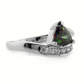 Mystic Topaz Silver Ring Also Called Smoked Topaz